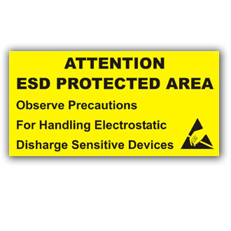 Attention ESD Protected Area (E025)