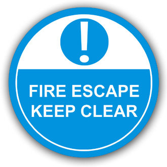 Fire Escape Keep Clear (L010)