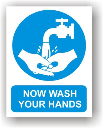 NOW WASH YOUR HANDS (O018)