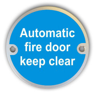 Automatic Fire Door Keep Clear (G009)