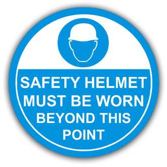 Safety Helmets Must Be Worn (L013)