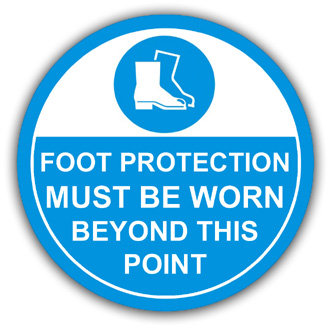 Foot Protection Must Be Worn (L016)