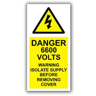 Danger 6600 Volts (D007)