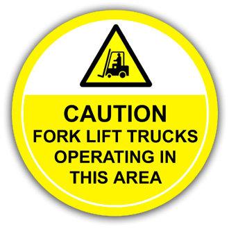Caution: Forklift Trucks (L028)