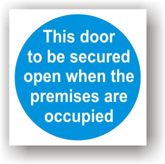 Door Secured When Premises Occupied (G021)