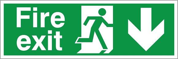 Fire Exit Arrow Down (H004)