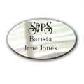 White Oval Namebadge (B003)