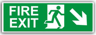 Fire Exit Down Right (H006)
