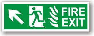 Fire Exit Flames Up Left (H029)