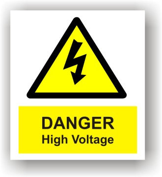 Danger High Voltage (W017)