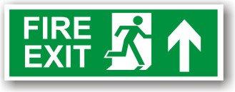 Fire Exit Arrow Up (H003)