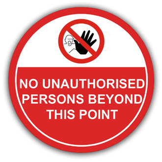 No Unauthorised Persons (L002)