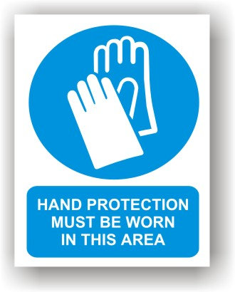 Hand Protection Worn in This Area (O011)