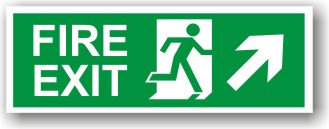 Fire Exit Arrow Up Right (H008)