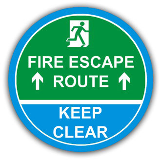 Fire Escape Route, Keep Clear (L012)