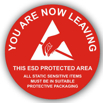 You are now leaving this ESD protected area (E028)