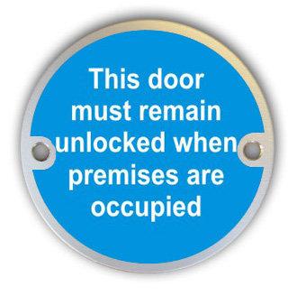 Door Must Remain Unlocked (G004)