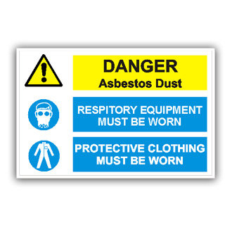 Danger Asbestos Dust (T005)