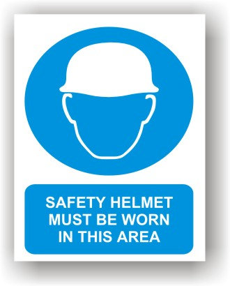 Safety Helmet Worn In This Area (O007)