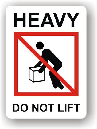 Heavy Do Not Lift (P015)