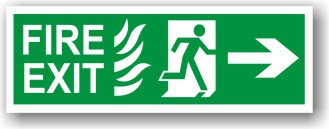 Fire Exit Flame Right to EC (H026)
