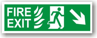 Fire Exit Down Right (H032)
