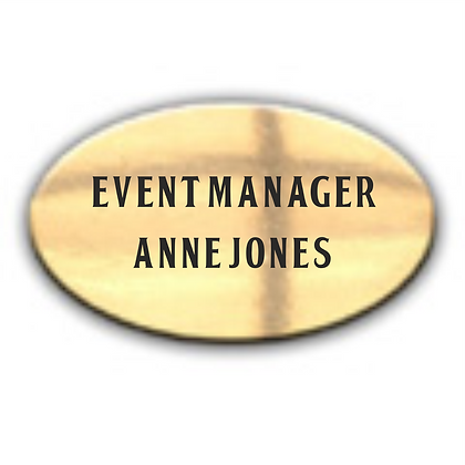 Bright Gold Oval Namebadge (B006)