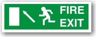 Fire Exit Up Left to EC (H021)