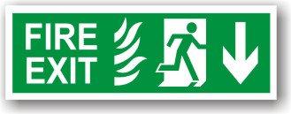 Fire Exit Flames Down to EC (H028)