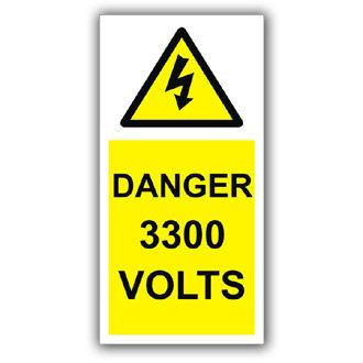 Danger 3300 Volts (D006)
