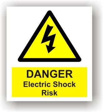 Danger Electric Shock Risk (W013)