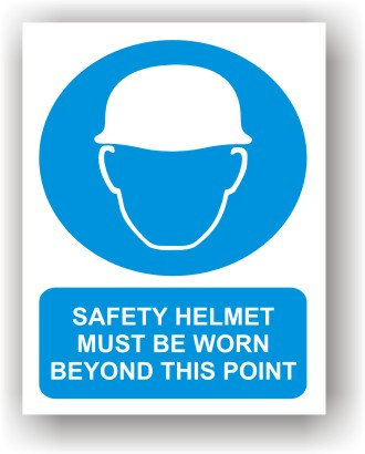 Safety Helmet Must Be Worn (O001)