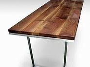 custom farm table, Olde good Things farm table, reclaimed pine, industrial
