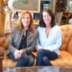 Fay Sciarra, Linda Sciarra, artist and designer, co-founders, partners, owners
