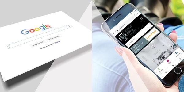 Transparent pyramid between google and phone