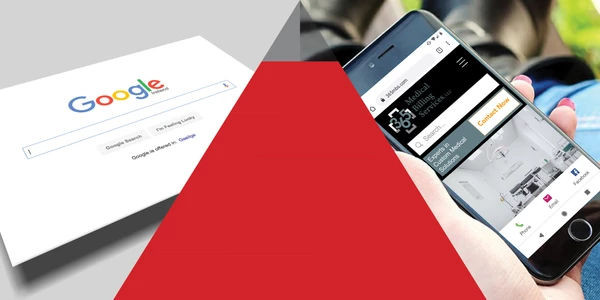 Pyramid between google and phone