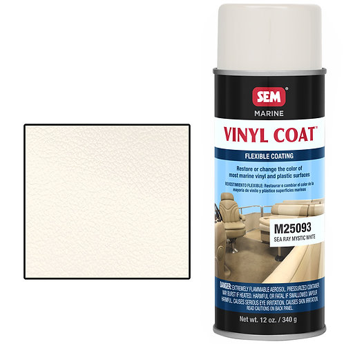 sem sea ray mystic white vinyl coat