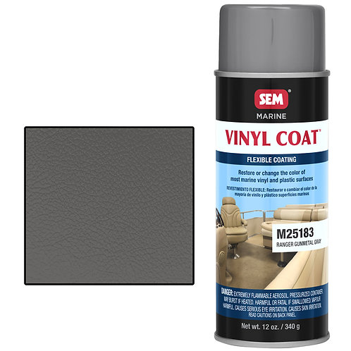 sem gun metal gray vinyl coat