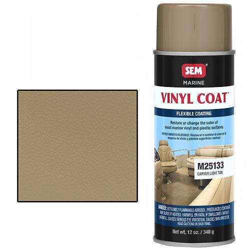 sem carver light tan vinyl coat