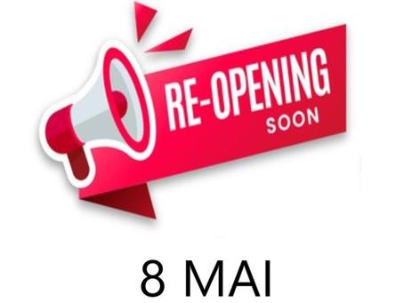 Ré-ouverture le 8 mai en terrasse