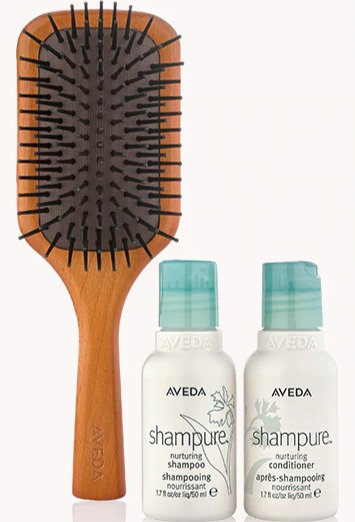 travel size shampure™ and brush set