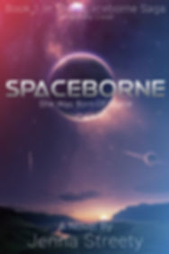 Temporary Mock Cover of The Spaceborne Saga's First Book, Spacebone, By Jenna Streety