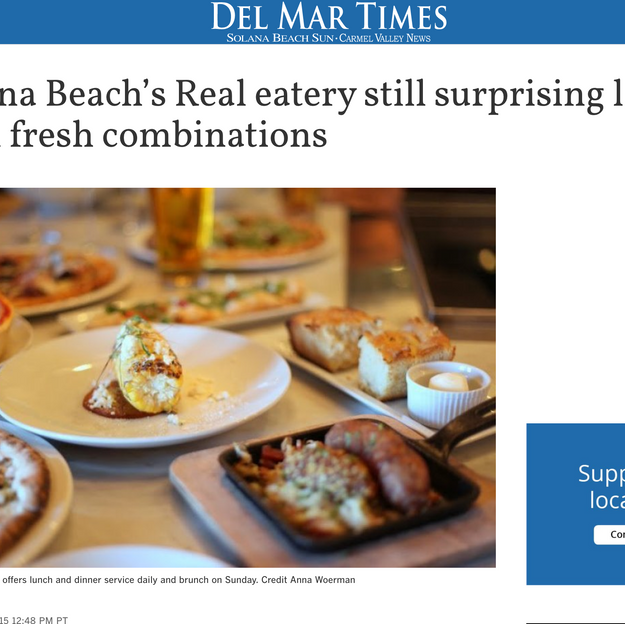 PHOTOGRAPHY: Featured Photo  Del Mar Times, Nov 2015
