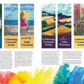ARTICLE: Shedding Light on Coronado Artists Coronado Vibe Magazine April 2018, Page 39