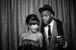 couple in photo booth