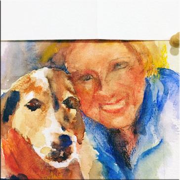 Martha and pup