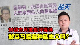 刘镇东只敢批评媒体,敢骂马哈迪种族主义吗?