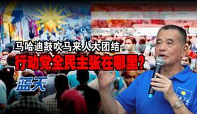 马哈迪鼓吹马来人大团结,行动党全民主张在哪里?