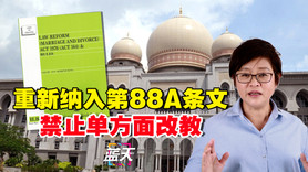 重新纳入第88A条文,禁止单方面改教