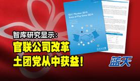智库研究显示:官联公司改革,土团党从中获益!